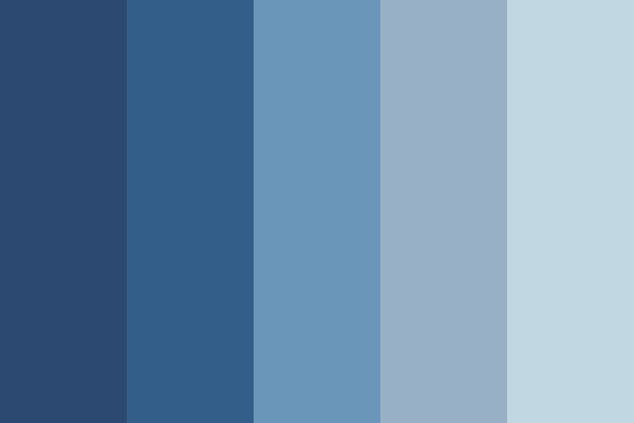 In The Blue Color Palette