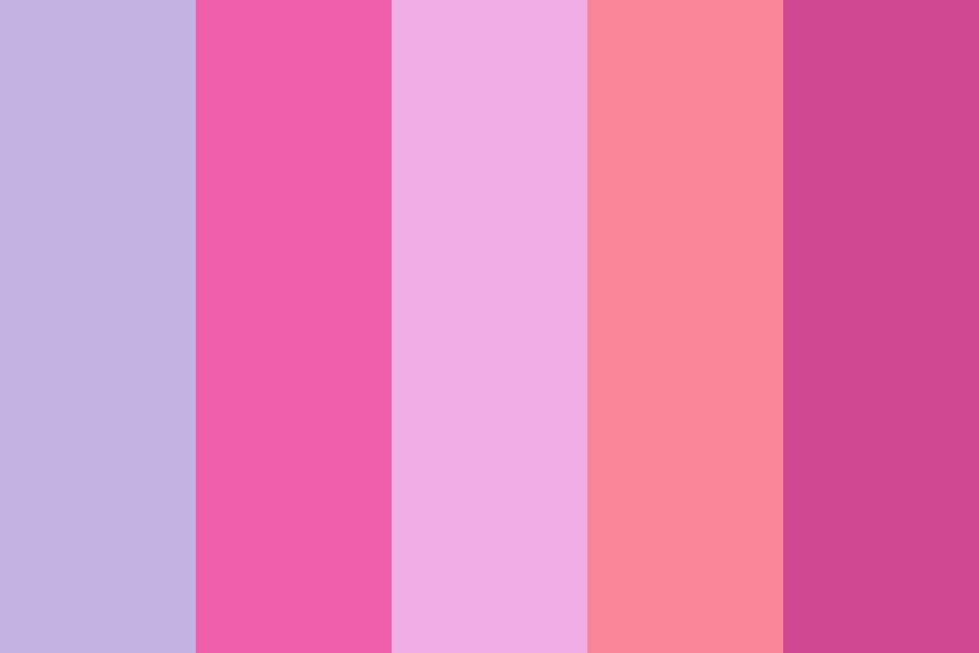 In The Mix With Pink Color Palette