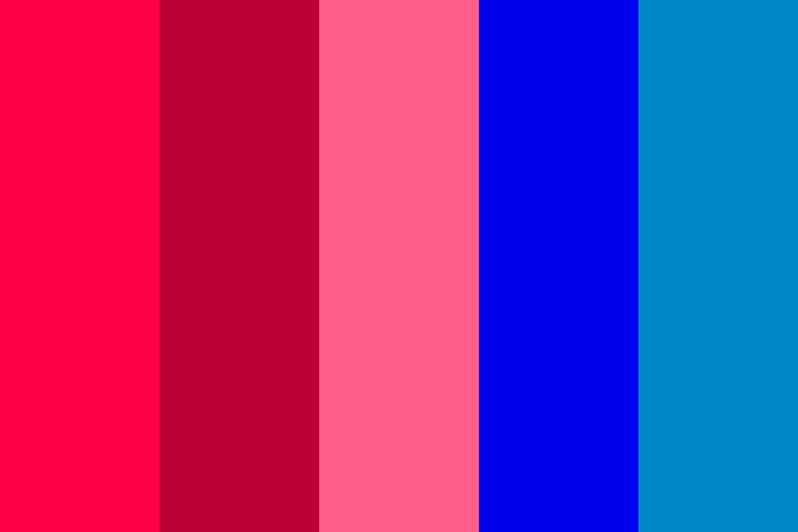 Infact Pinks And Blues Color Palette