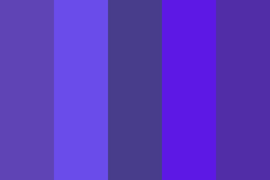 Iris Blue Purple Color Palette