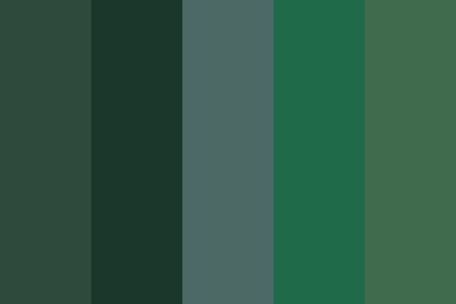 Jewels Of The East Coast Yarn  greens Color Palette