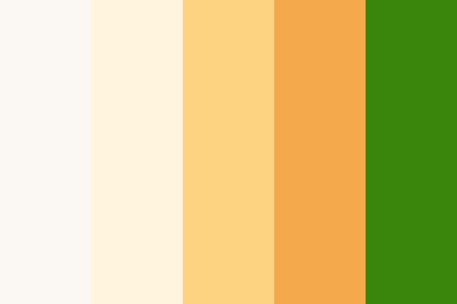 Joyful Pastel Carrot Color Palette