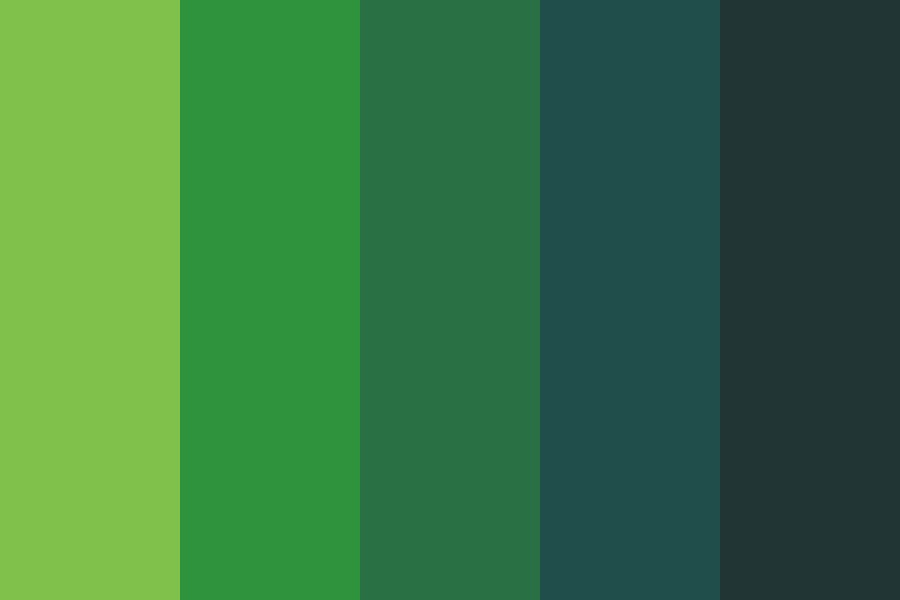 Jungle Funeral Color Palette
