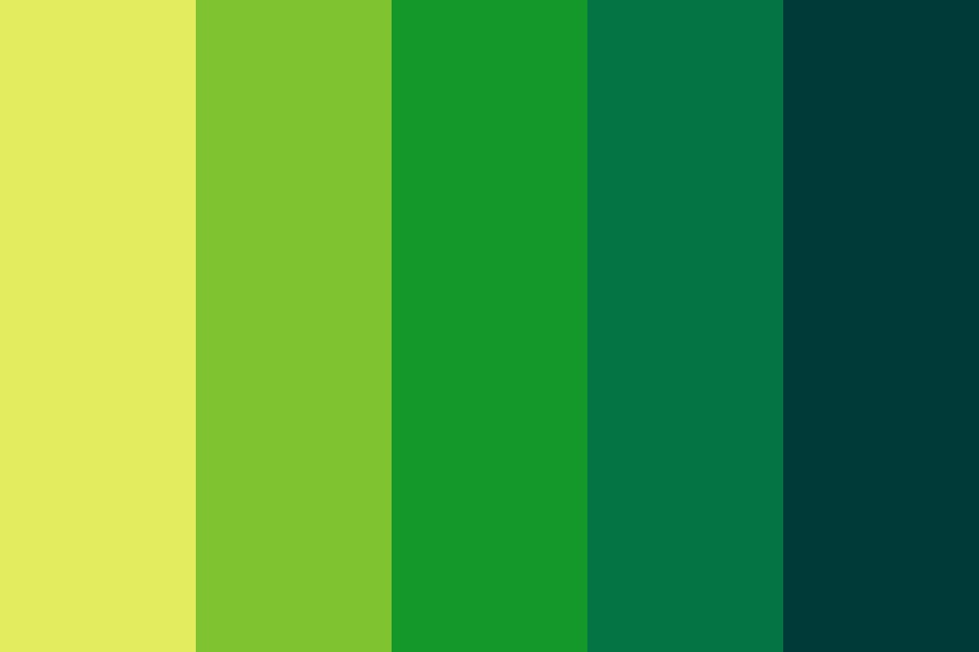 Jungle Water Color Palette