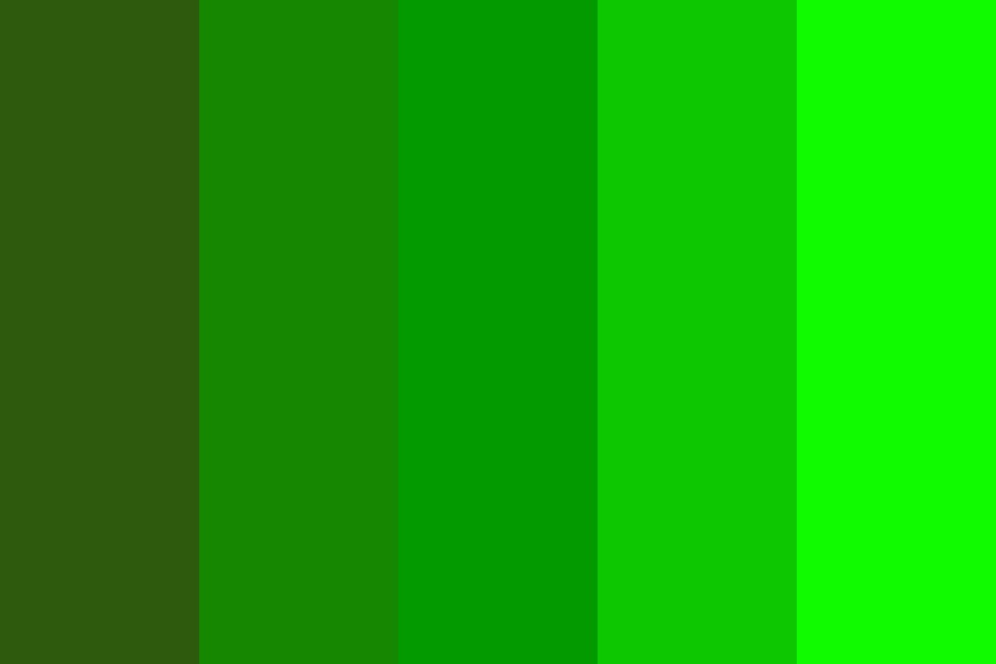 Just A Bunch Of Greens Color Palette