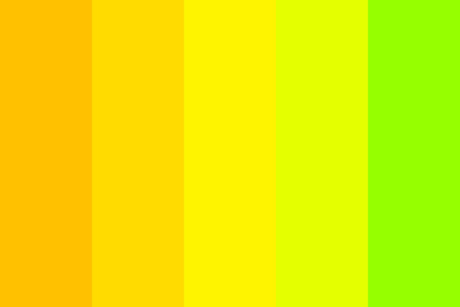 Just Yellow Color Palette