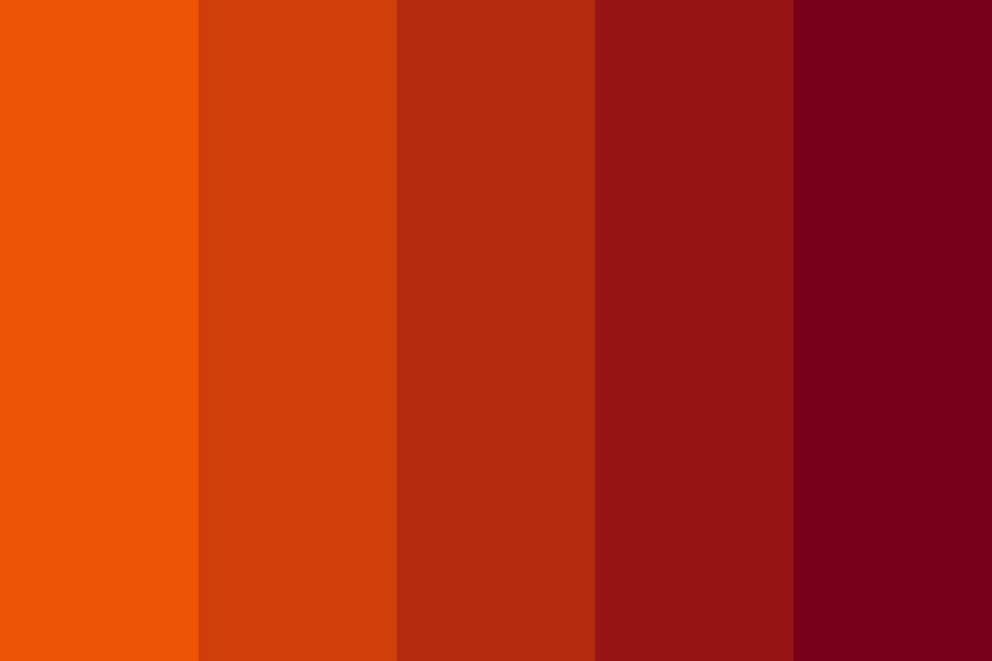 Kasaandra Orange To Llani Red Color Palette