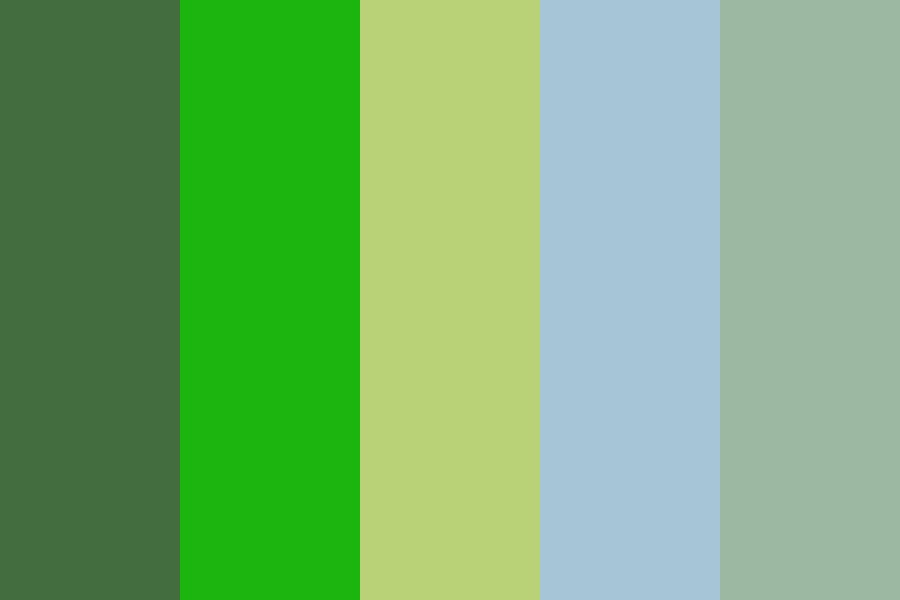 Kid   Green Color Palette