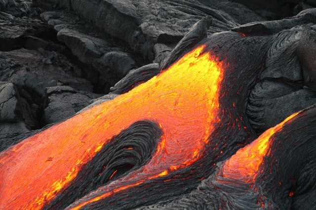 Lava On Black Rock Color Palette