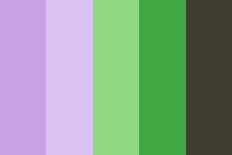 Lavender And Green Color Palette