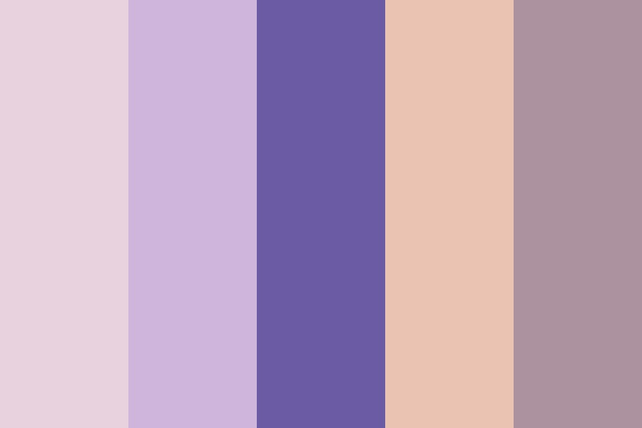 Lavender Cream Color Palette