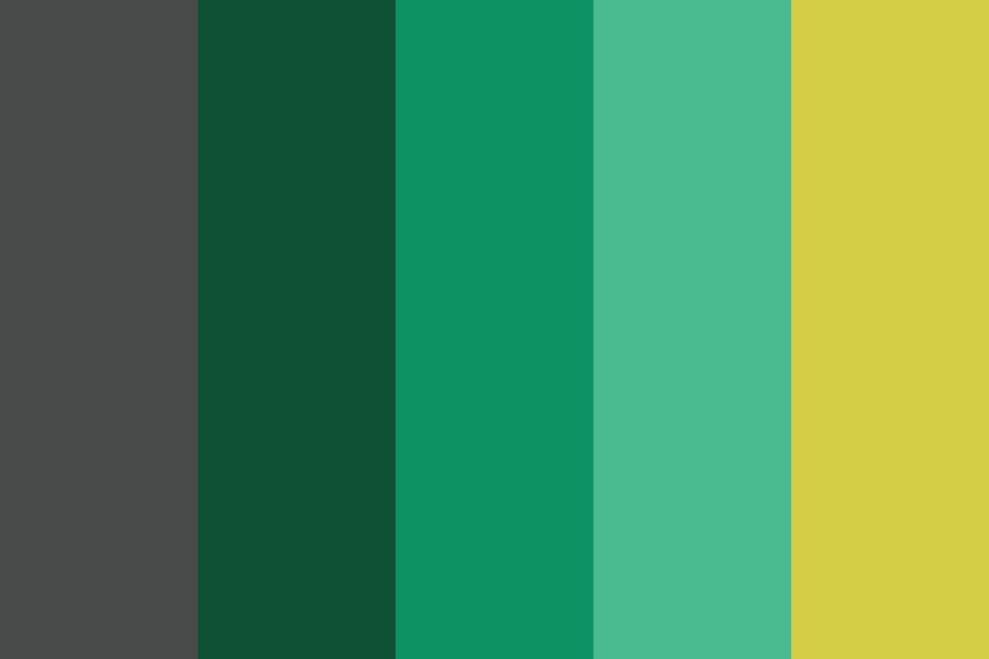 Legend Of Zelda Green With Tri force Gold Color Palette