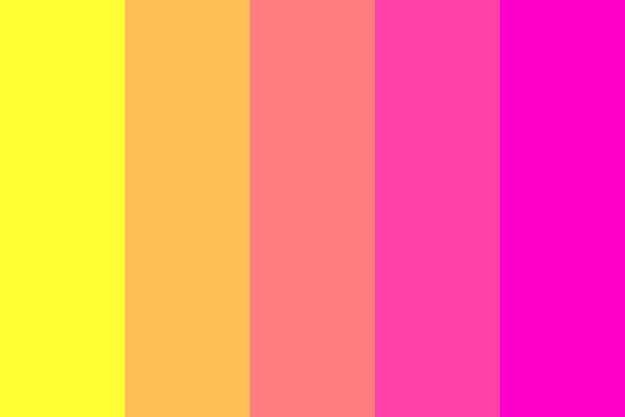 Lemonade Sunset Color Palette
