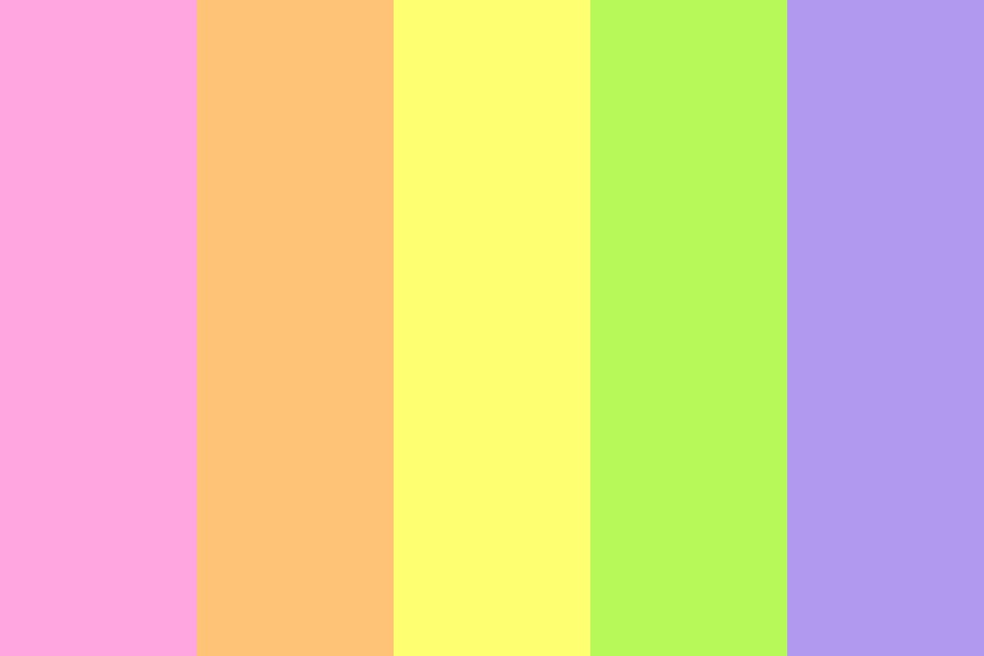 Light Rainbow Colors Color Palette