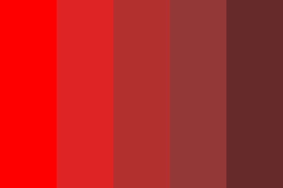 Light Red To Dark Red Progression Color Palette