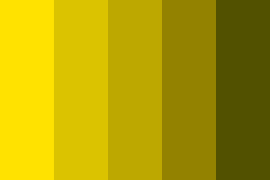 Light Yellow To Dark Yellow Color Palette