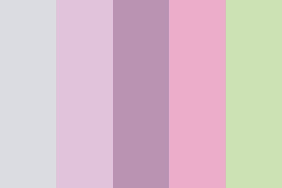 Lilac Pink Green Cl Color Palette