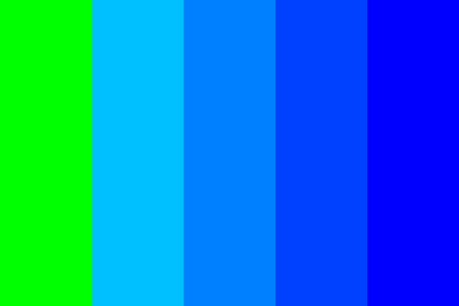 Lime To Blue Color Palette