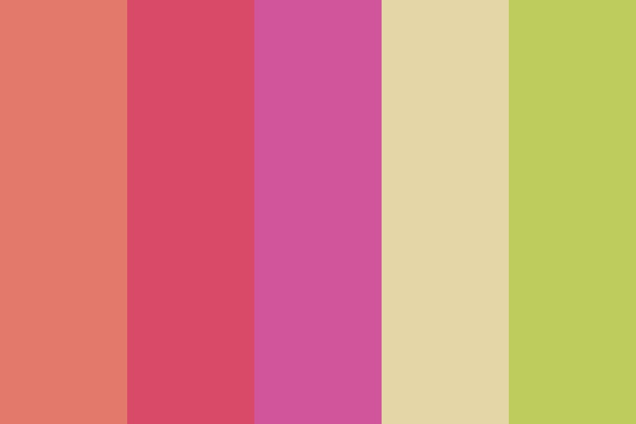 Limes And Magentas Color Palette