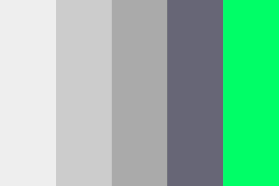 Lonely Green Color Palette