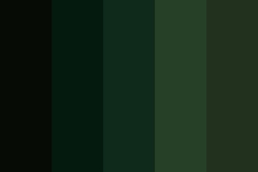 Lonely In The Forest Color Palette
