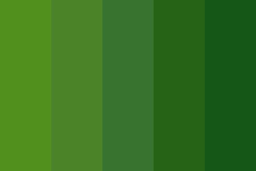 Lovely Leaf Greens Color Palette