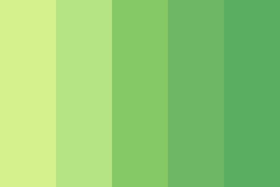 Lovely Warm Greens Color Palette