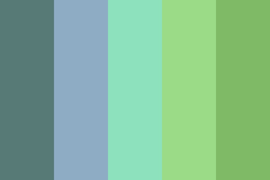 Low Saturation Blue Color Palette