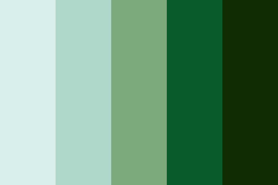 Lucky Greens Color Palette