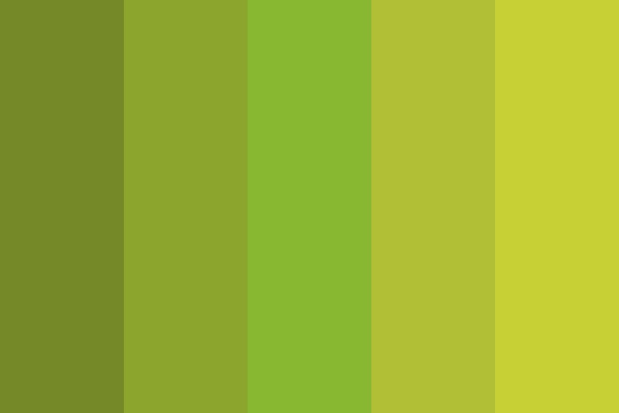 Luscious Green Color Palette