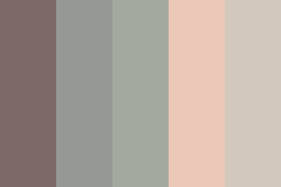 M Grey Greens Blushes Color Palette
