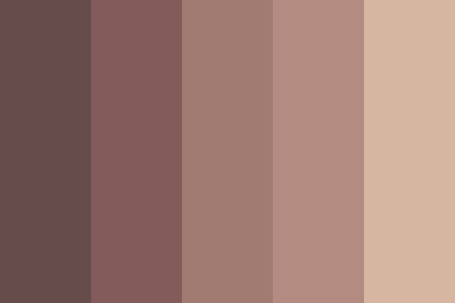 M Red Brown Color Palette