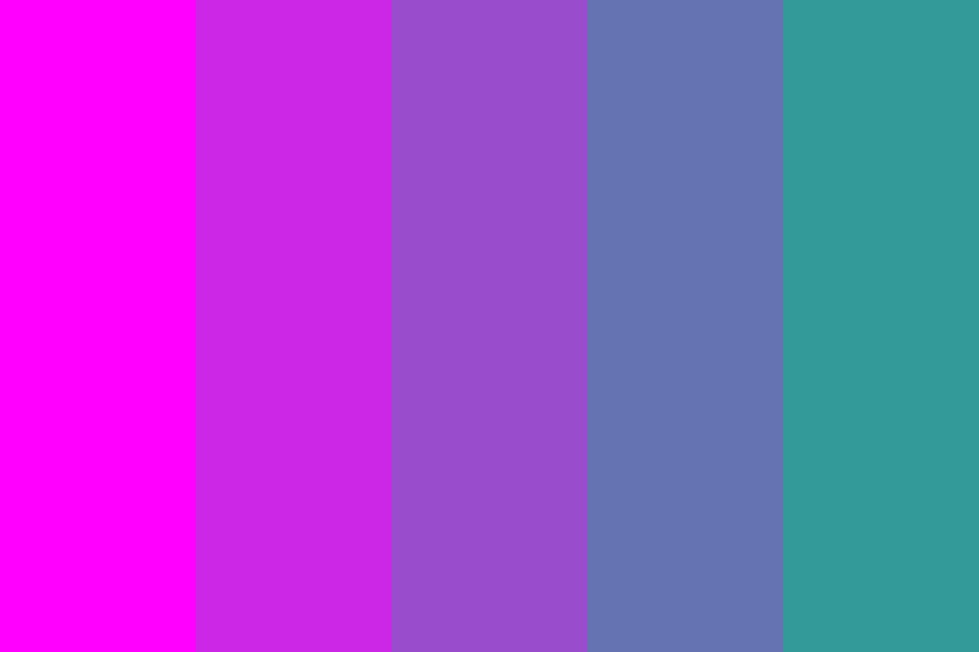 Magenta To Turquoise Color Palette