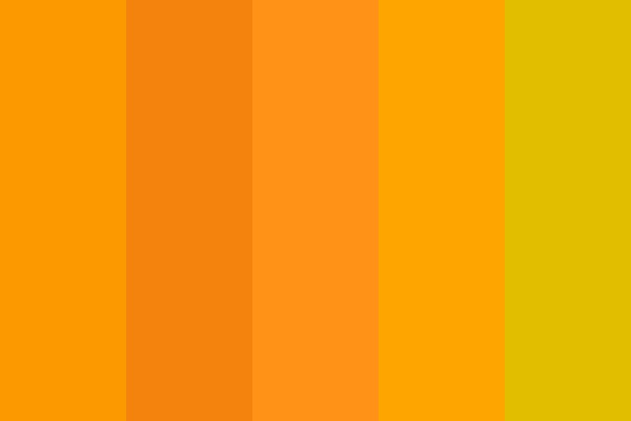 Mandarin Orange Color Palette