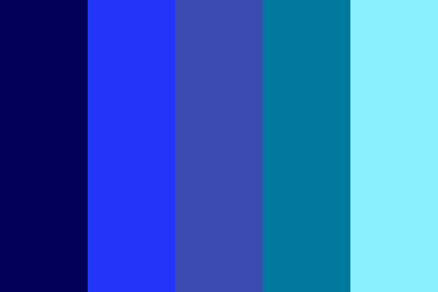 Many blues Color Palette