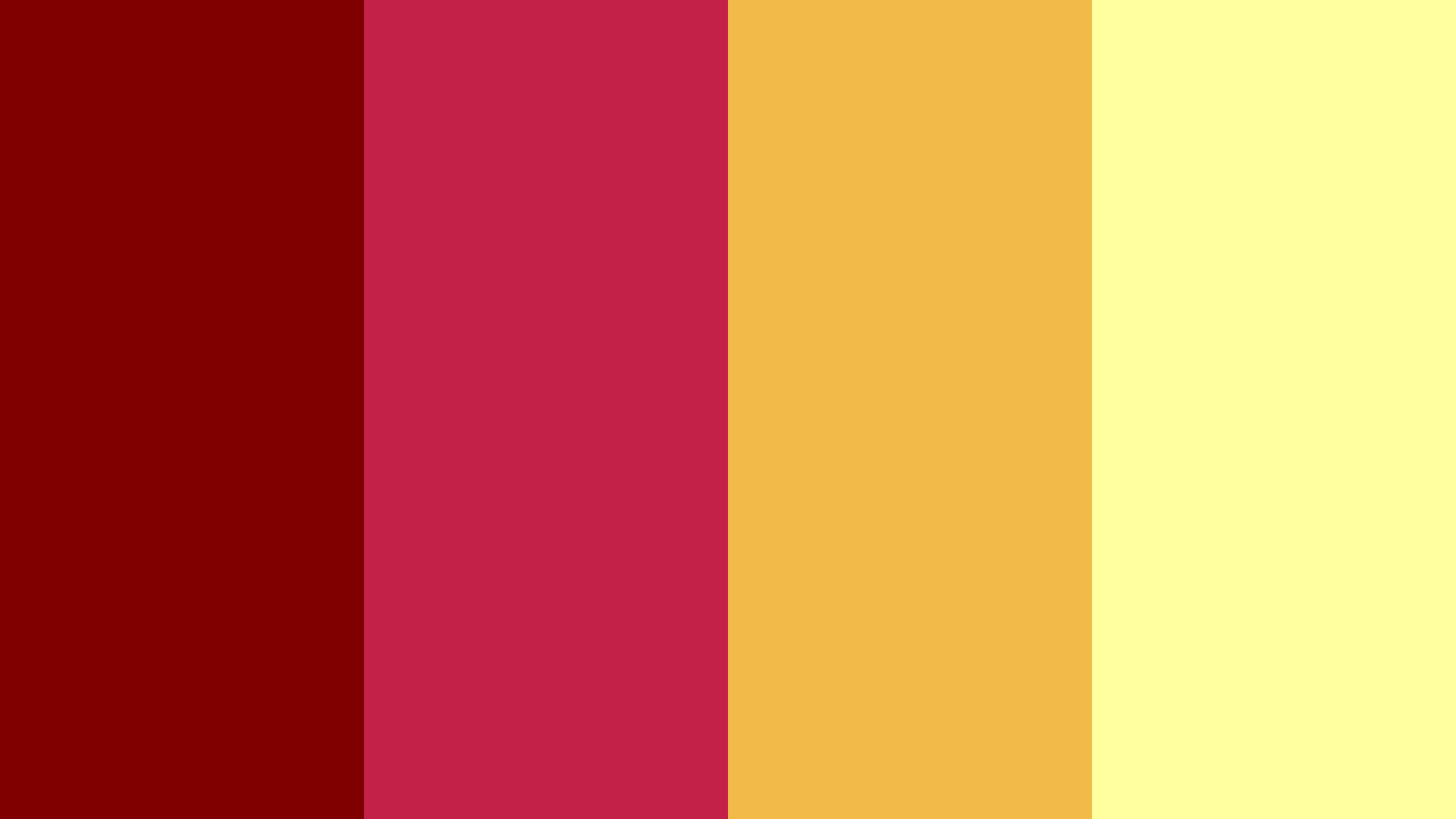 Maroon With Yellow Color Palette