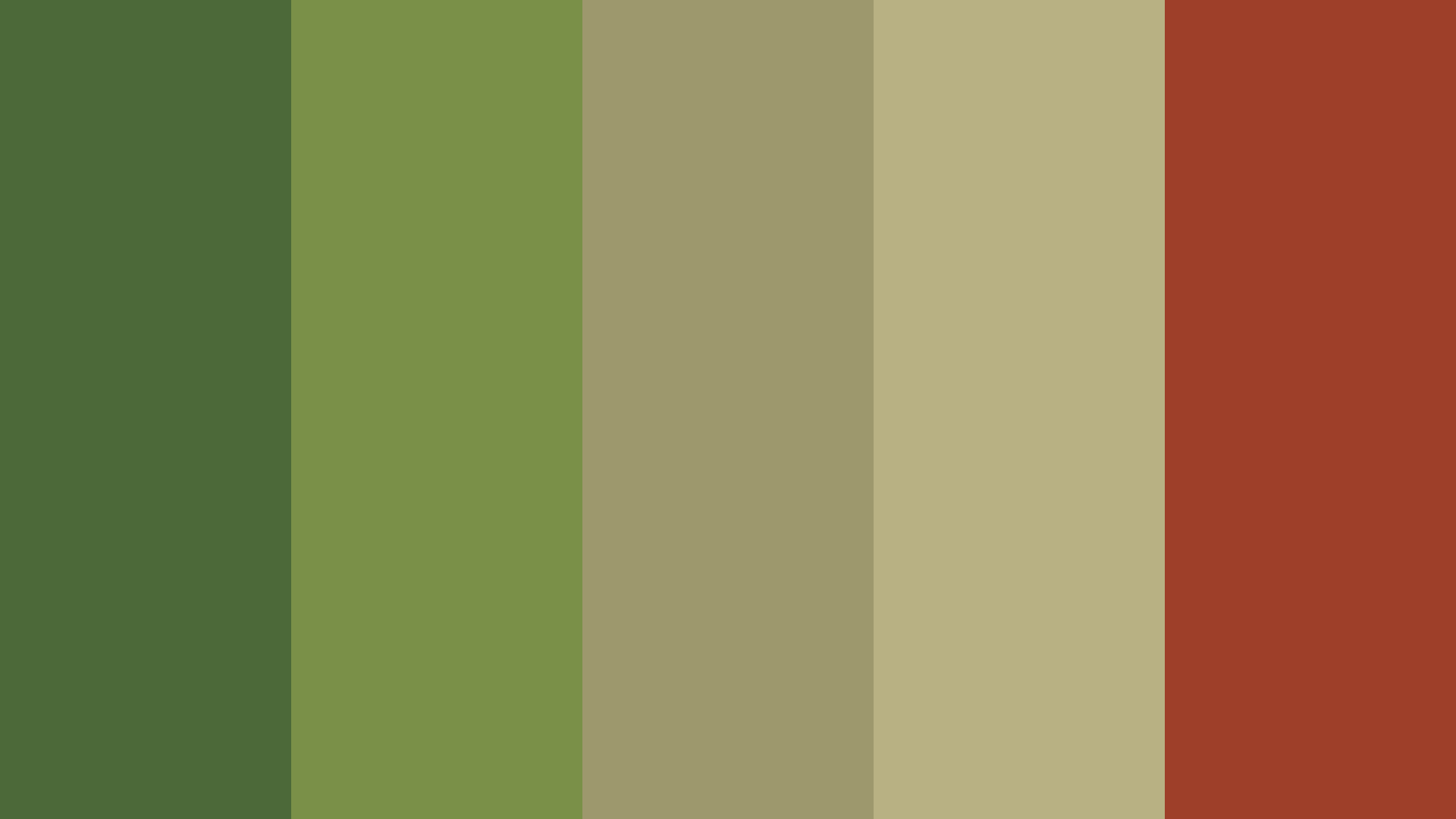 Marshy Thing Color Palette