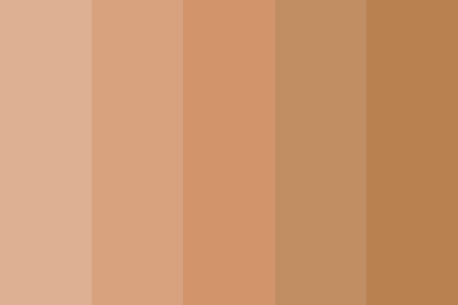 Medium Skin Color Palette