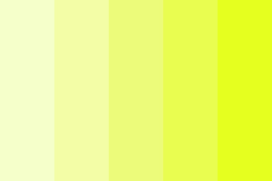 Mellowing Yellowing Color Palette