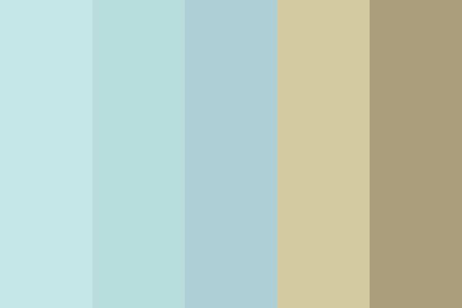 Mentally On The Beach Color Palette