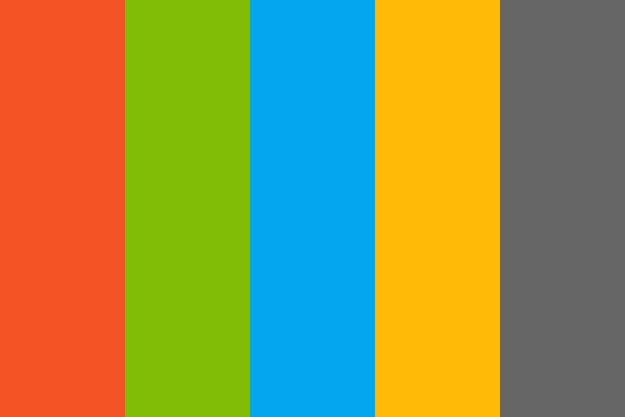 Microsoft Flag And Text Color Palette