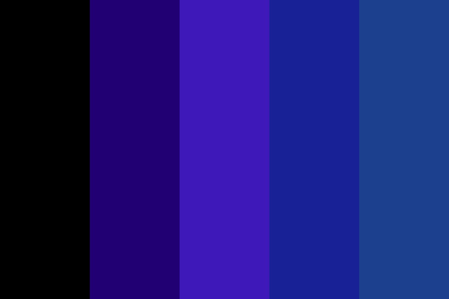 Midnight Blues Color Palette