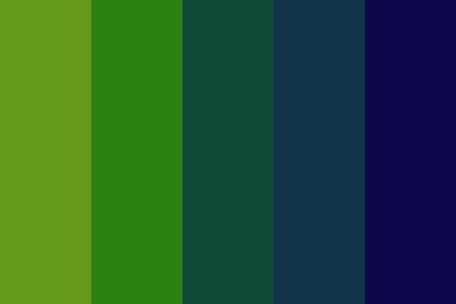 Midnight Grass Color Palette