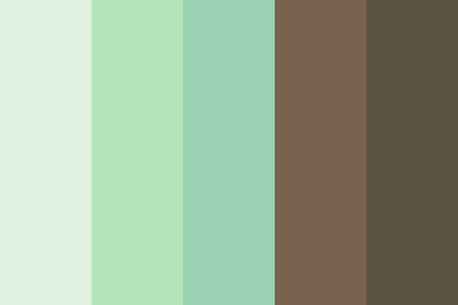 Mint Chocolate Chip Icecream Color Palette