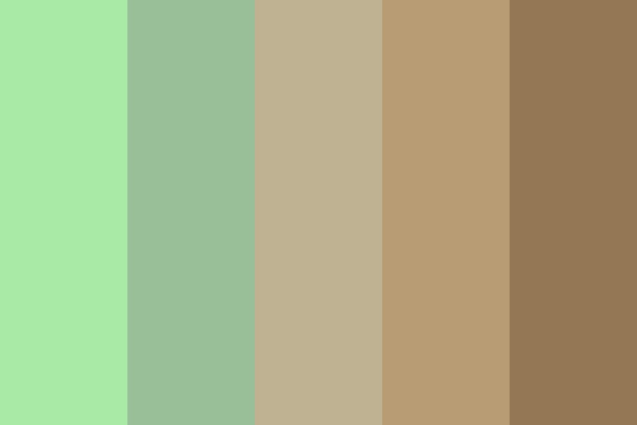 Mint Chocolate Icecream Color Palette
