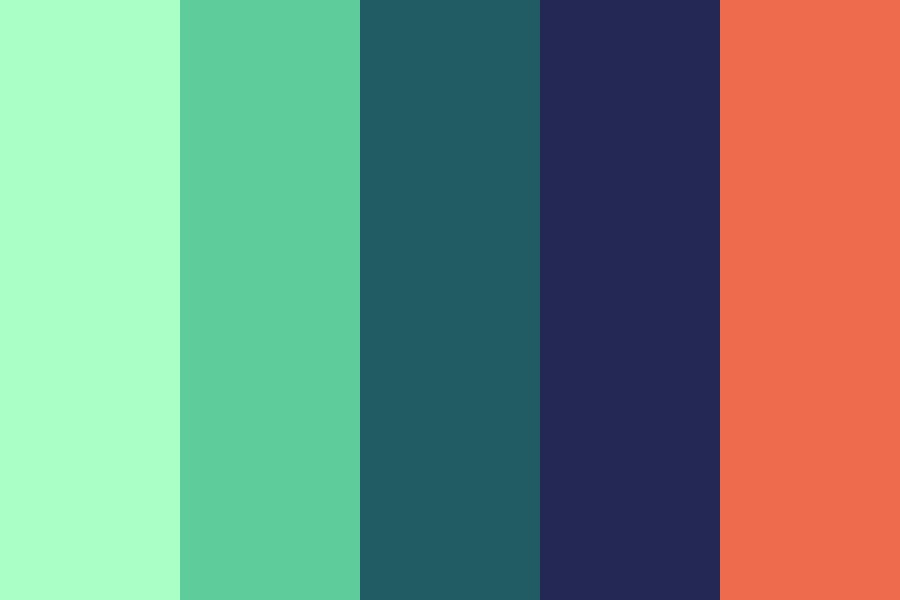 Mint Galaxy Color Palette