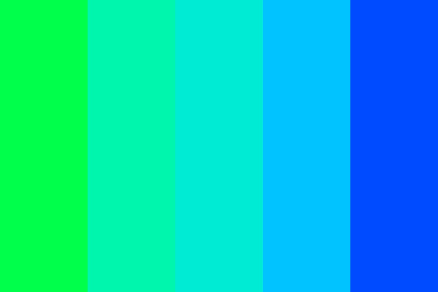 Minty Rainbows Color Palette