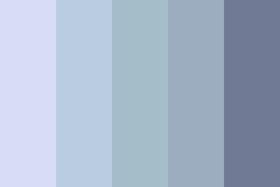 Misty Blues Color Palette