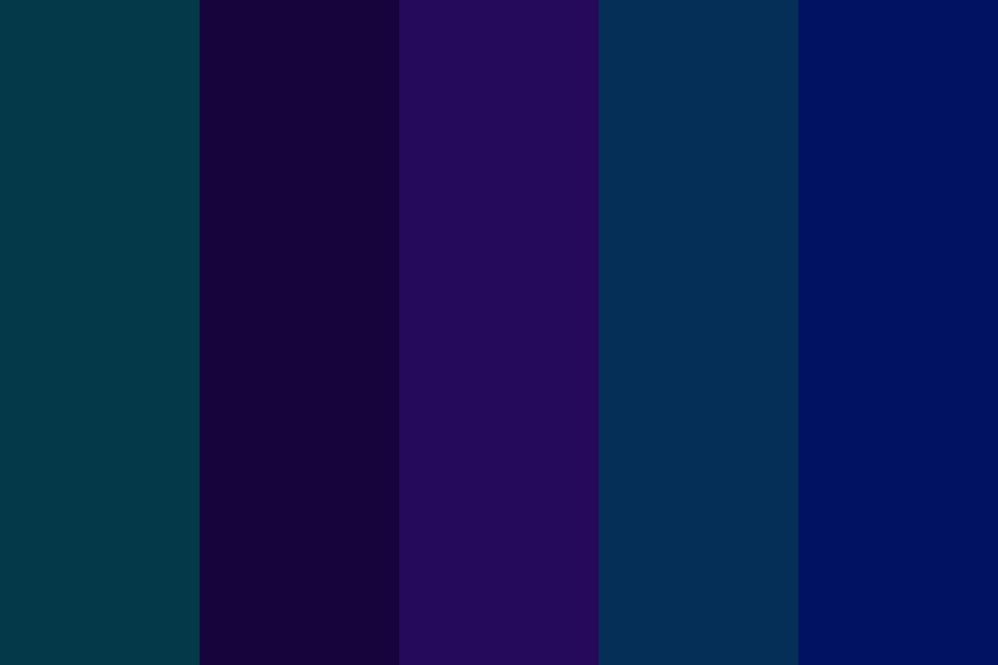 Mix Blue And Purple Day Color Palette