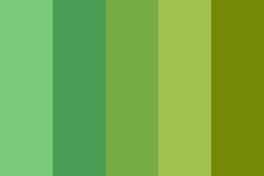 Mix Green And Yellow Day Color Palette